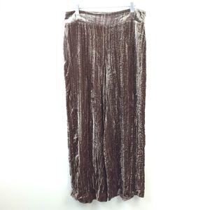 Zara Woman Crushed Velvet Pull-On Pants Large